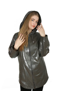 Brayden Women Leather Jacket