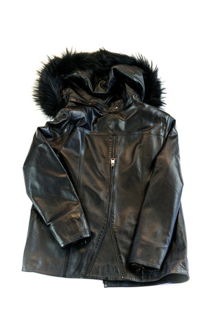 Salix Leather Coat