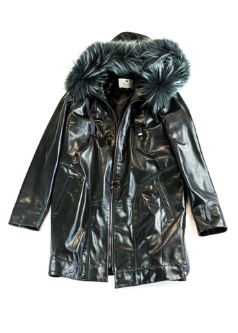 Pimpinella Leather Coat