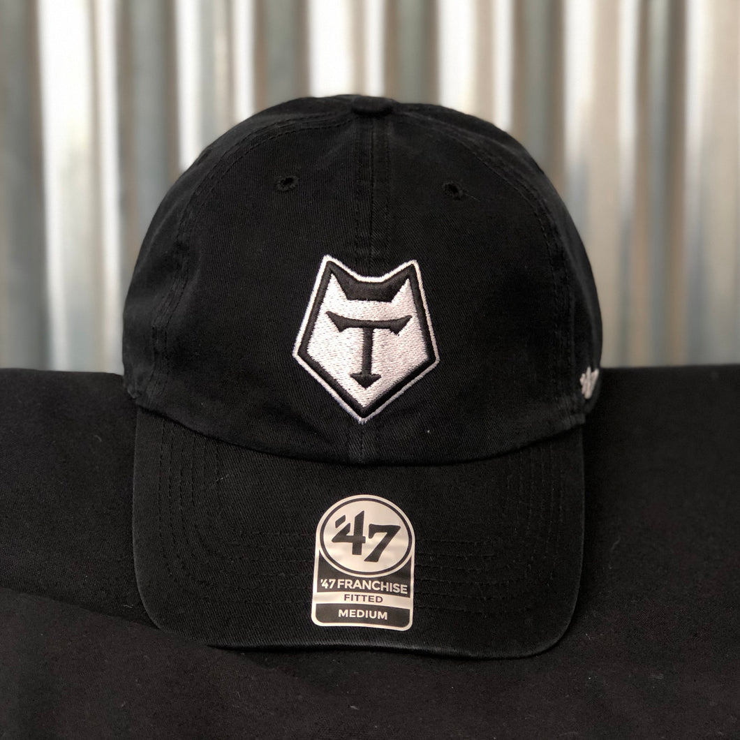 47 Brand Black Slouch Fitted Fullback Cap