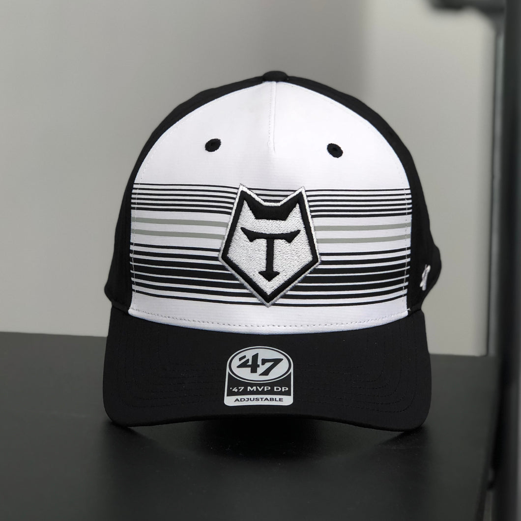 47 Brand Black and White Curved Snapback - COMING SOON