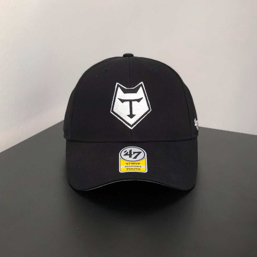 47 Brand YOUTH Black Structured Cap
