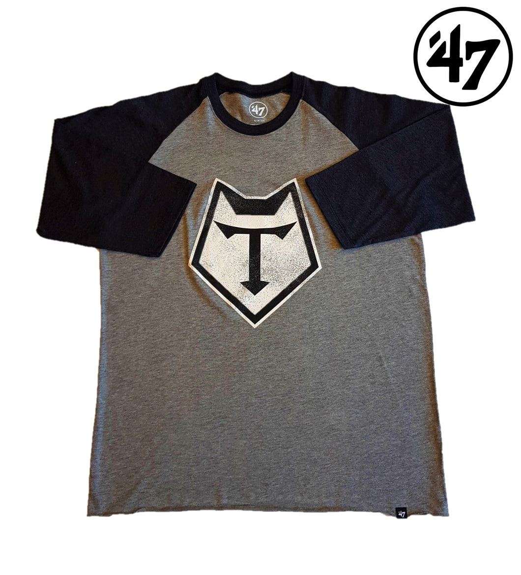 Mens-'47 Brand Distressed Imprint Raglan