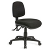 Black task chair with 5 star black base black fabric without arms
