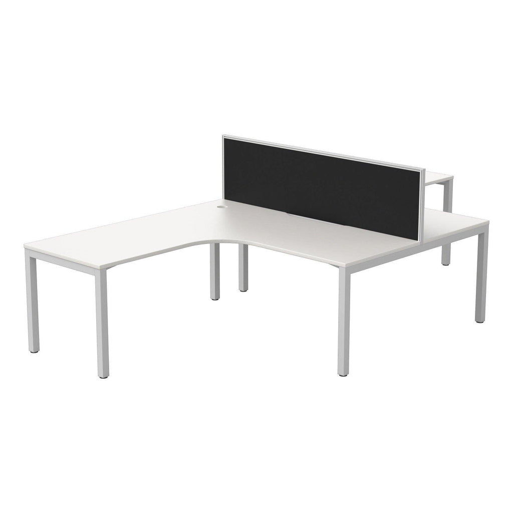 Cubit + Connect 30 Screen-Two Person Corner Workstation