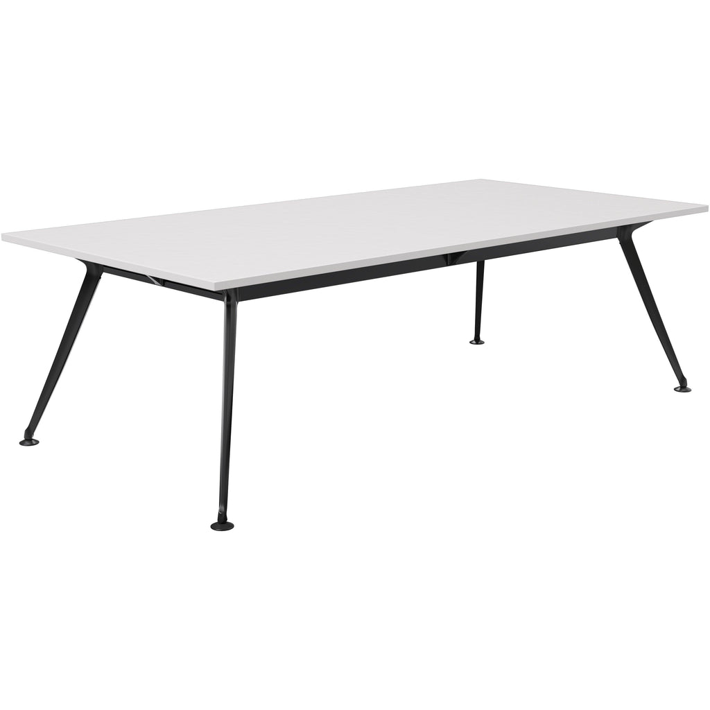 Profile Rectangular Table – choose from a range of sizes Select from stylish chrome, black or white powdercoat finish! Integrated cable management in leg Adjustable levelling feet Modular leg design, multiple configuration options Add power/data boxes for extra functionality All tables over 2400L will come with a centre leg                                                      Height - 750mm including worktop