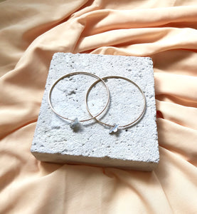 Aeon - Gold & Silver Blossom Hoops