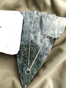 Milky Designs - Silver O Necklace