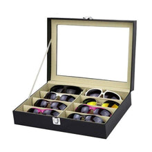 Load image into Gallery viewer, 8 Slots Eyeglasses Faux Leather Storage Organizer - Accessories
