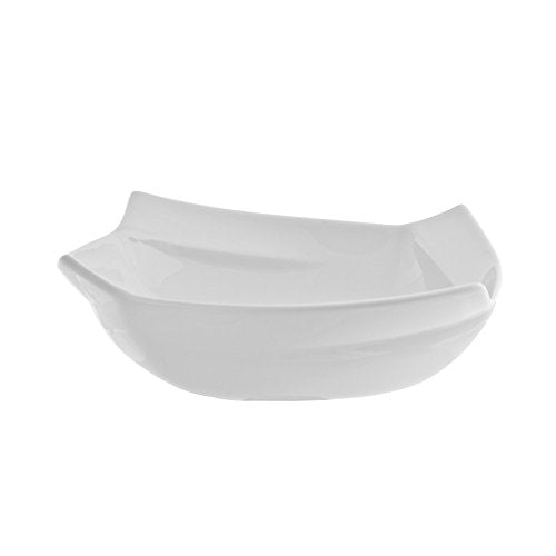 "10 Strawberry Street Nouve Square 6""/8 Oz Cereal Bowl, Set of 6, White"