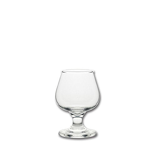 10 Strawberry Street Fiero Mini 5 Oz Brandy Glass, Set of 6, Clear Glass