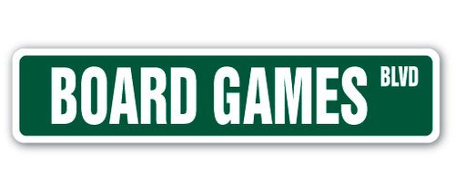 [SignJoker] BOARD GAMES Street Sign player chess checkers lover monopoly game gift cards Wall Plaque Decoration