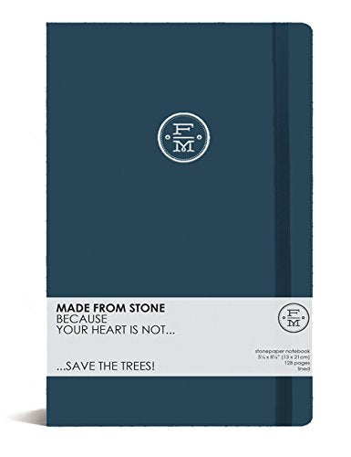 Stone Paper Notebook 13x21cm, Royal Blue