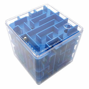 3d Magic Cube Maze Puzzle Box Intelligence Educational Toys (Kids and Adults - Blue)