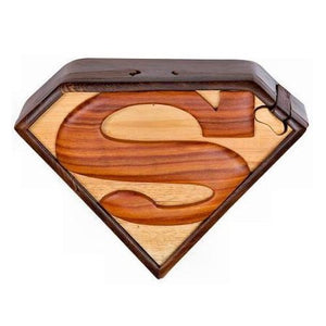 Superman Wood Puzzle Box by The Handcrafted
