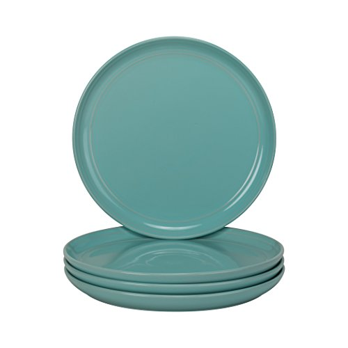 "10 Strawberry Street Double Line - Seafoam - 8.25"" Salad Plate - Set of 4"