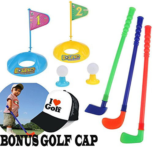 Janestone Outdoor Children Golf Ball Plastic Toy Set Early Educational Toys for Kids Sports Toy