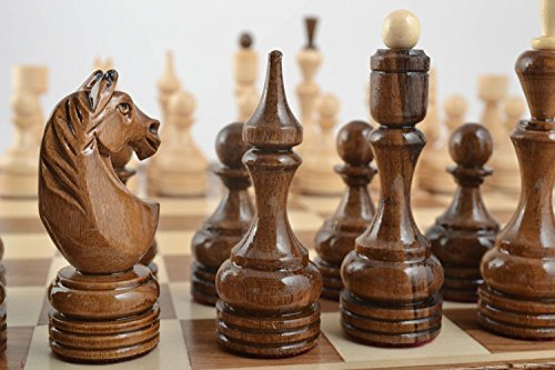 MadeHeart | Buy handmade goods Unusual handmade wooden chessmen chess pieces board games gift ideas men