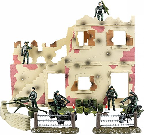 Click N' Play Urban Warfare Battlefield Military Action Figure 43 Piece Playset With Accessories.