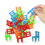 Jenilily Chairs Stacking Tower Balancing Game - Party Favor Stacking Toys - Pile-Up Suspend Family Board Games For Kids (18 Chair Toys Set)