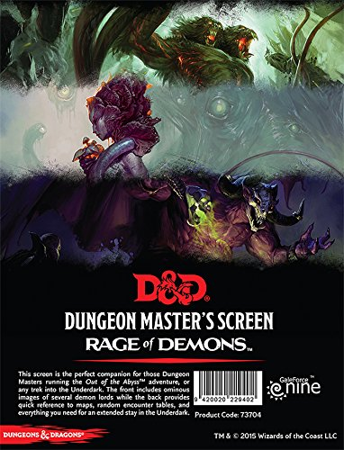 Gale Force 9 D&D Rage of Demons DM Screen Board Games