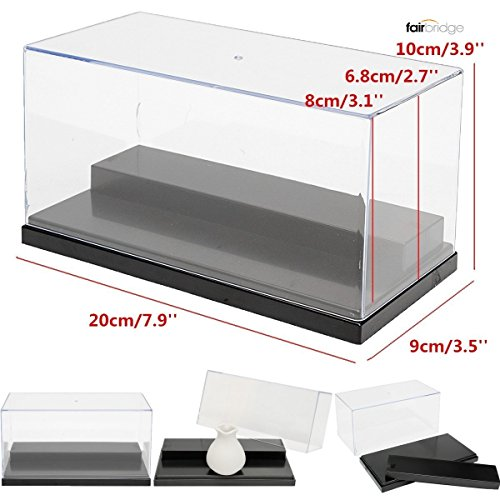 Acrylic Display case 7.9 x 3.9 x 3.5 inches For Action Figures Toy Vinylmation lot any minifigures Fuko Lego Model Rock stone Home Display