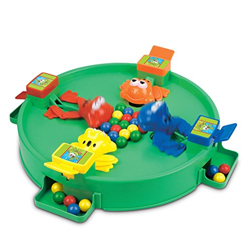 Hungry Frogs 3D Battle Board Games, Frogs Eating Balls Play Toy Set Table Game 2-4 Players for Family Kids Marbles Included