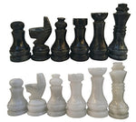 RADICALn Marble Big Board Games Complete Chess Figures - Suitable for 16 - 20 Inches Chess Board - Antique 32 chess Figures set - Completely Marble Handmade Non-Wooden Chess Pieces (Blackandwhite)