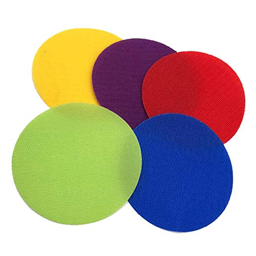 Sapma 30 Pieces 4 inch Hook and Loop spot Carpet Markers for Kids Sports and Preschool Education Props