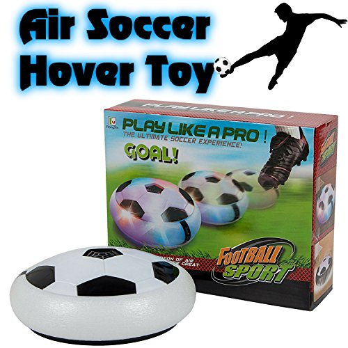 BETTERLINE Air Power Soccer Football Hover Disc with Foam Bumpers and Light-Up LED Lights, Kids Sports Ball Game for Indoor & Outdoor Play by Better Line