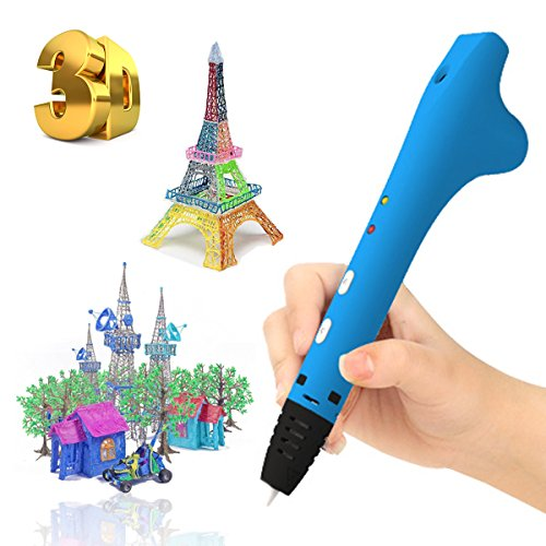 3D Printing Pen, Doodler Pen USB Charge Drawing Pen, with 5m/16Ft 1.75mm PCL Filament for Kids Adults Children Girls Boys Over 5 Years Old DIY Gift Art Crafting Modeling Intelligence Learning Creating