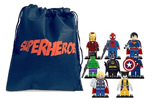 fat cat sales Superhero Mini-Avenger Action Figure interlocking building blocks (Compatible with lego ) & Superheroes Bag