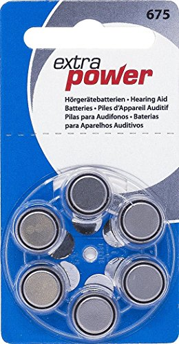 Extra Power Size 675 Zinc Air Hearing Aid Batteries (PR44) (1 Box) (60 Batteries)