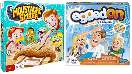 Egged On and Moustache Smash Board Games for Kids and Families