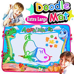 "Aqua Doodle Mat Qiwoo Extra Large 35"" x 25"" Dinosaur Drawing Pad 6 Color Water Painting Writing Board with 4 Magic Pens Clips Kids Sports Outdoor Educational Learning Toys for Toddler Boy Girl Teens"