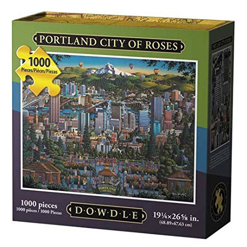 "Jigsaw Puzzle - Portland ""City of Roses"" 1000 Pc By Dowdle Folk Art"