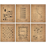 Board Games Patent Wall Art Prints - Set of Six Vintage Family Board Games Photos