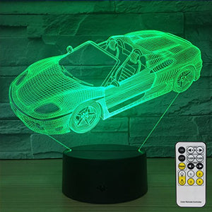 Night Lights for Kids Sports Car Decorations 7 Colors Change with Remote Baby Night Light Beside Lamp Kids Lamp Children's Night Lights As a Gift Idea for Girls and boys