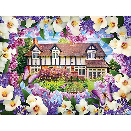 Lilac Cottage (Flower Garden Cottages 500), A 1000 Piece Jigsaw Puzzle by Lafayette Puzzle Factory