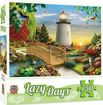 MasterPieces Lazy Days Dawn of Light Lighthouse Scene Jigsaw Puzzle by Alan Giana, 750-Piece