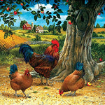 Rooster and Hens 500 Piece Jigsaw Puzzle by SunsOut