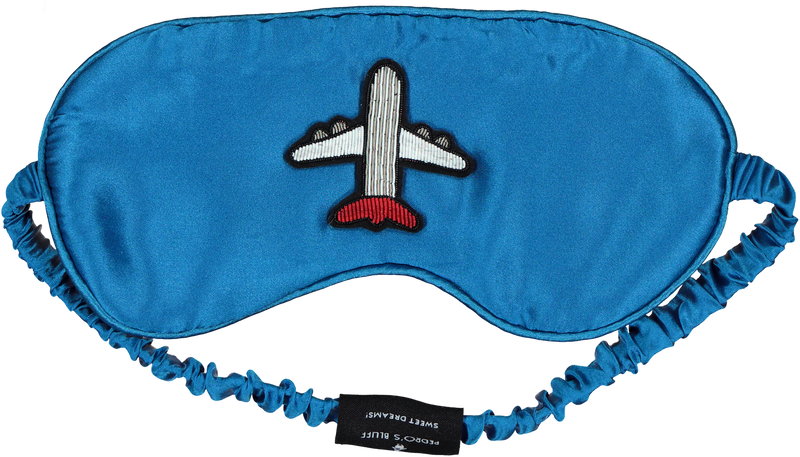 Pedro's Bluff Mulberry Sleep Mask - Fly Away (Blue)