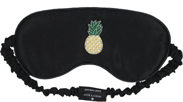 Pedro's Bluff Mulberry Sleep Mask - Tropics (Black)