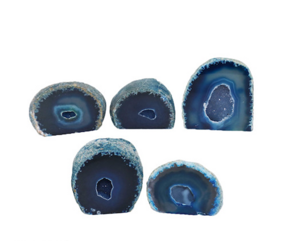 Blue Agate Geode Cut Base 1000g