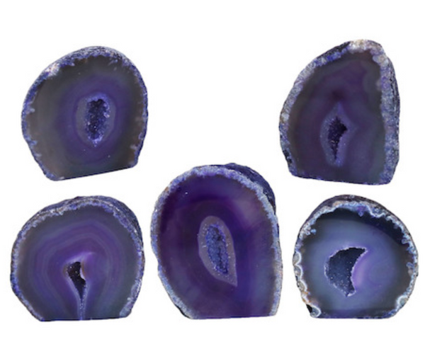 Purple Agate Geode Cut Base 1000g