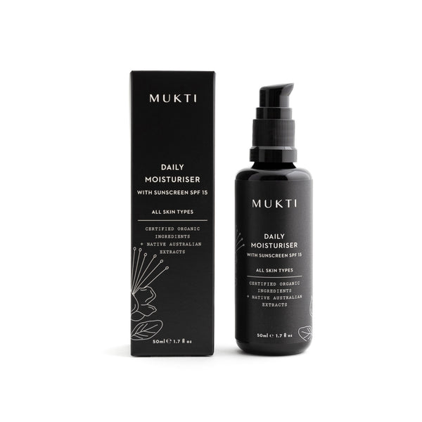 MUKTI Daily Moisturiser with SPF15 Sunscreen