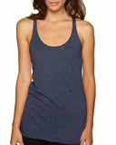 Next Level-6733-Ladies' Triblend Racerback Tank - INDIGO - XS