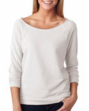 Next Level-6951-Ladies' French Terry 3/4-Sleeve Raglan - WHITE - S