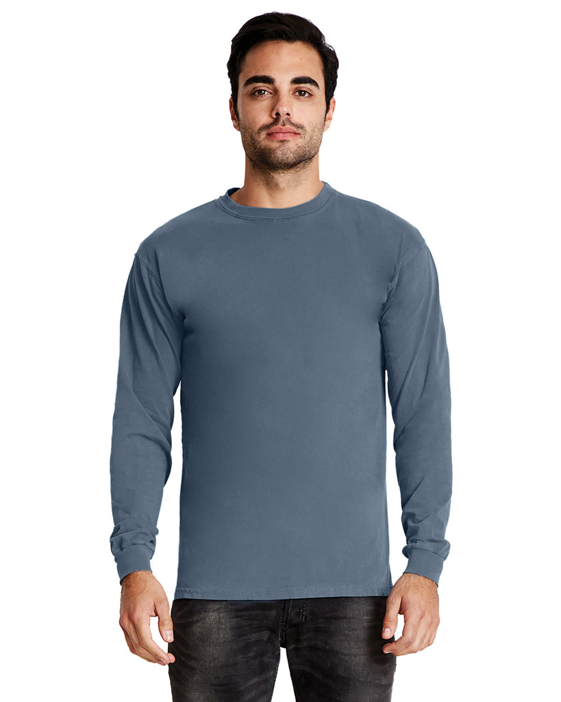 Next Level-7401-Adult Inspired Dye Long-Sleeve Crew - BLONDE - XS