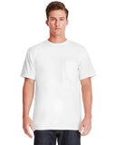 Next Level-7415S-Adult Power Pocket T-Shirt - WHITE - XS